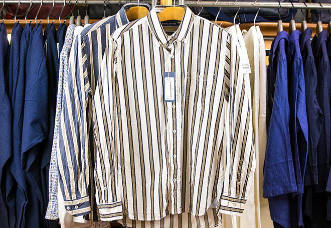 シアーサッカーシャツストライプ 24,000円→12,000円(+税)