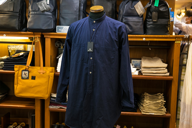 ナイジェルケーボン 襟なしシャツコート