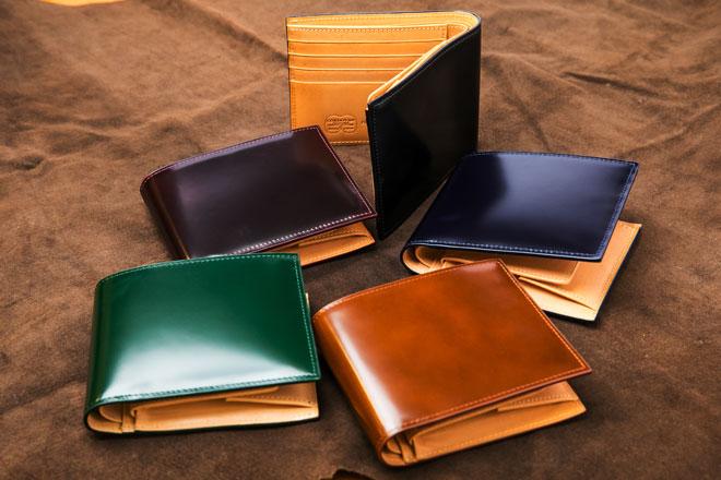 コードバーン二つ折り財布