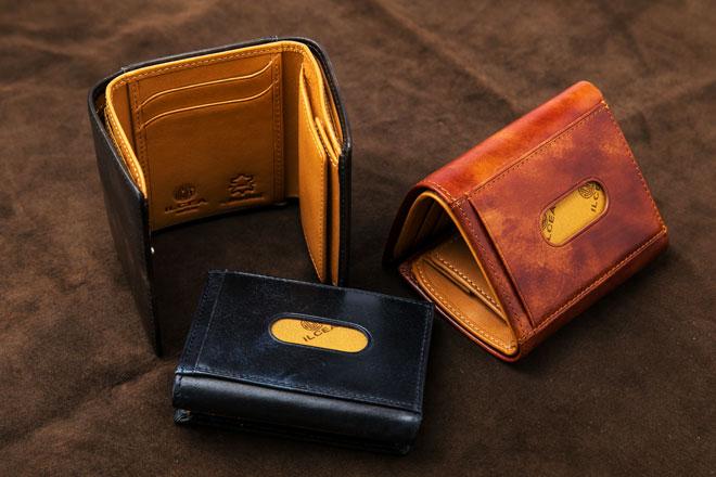 イタリーレザー三つ折り財布